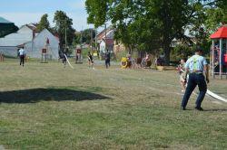Nové dětské hřiště - hasičské závody